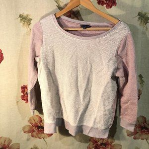 American Eagle Pink Long Sleeve Sweater